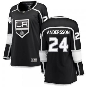 Lias Andersson Los Angeles Kings Women's Fanatics Branded Black Breakaway Home Jersey