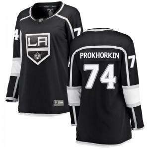 Nikolai Prokhorkin Los Angeles Kings Women's Fanatics Branded Black Breakaway Home Jersey