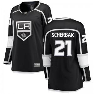 Nikita Scherbak Los Angeles Kings Women's Fanatics Branded Black Breakaway Home Jersey
