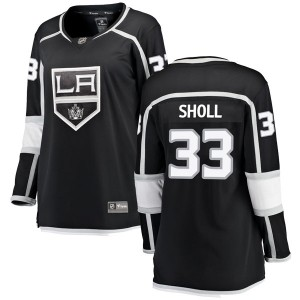 Tomas Sholl Los Angeles Kings Women's Fanatics Branded Black Breakaway Home Jersey