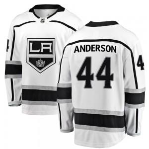 Mikey Anderson Los Angeles Kings Men's Fanatics Branded White ized Breakaway Away Jersey