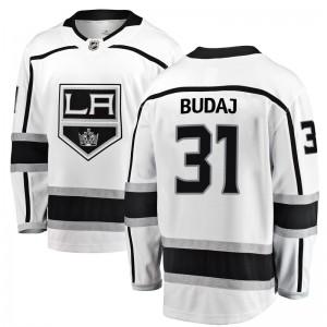 Peter Budaj Los Angeles Kings Men's Fanatics Branded White Breakaway Away Jersey