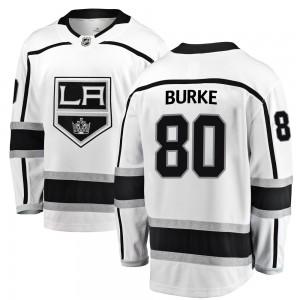Brayden Burke Los Angeles Kings Men's Fanatics Branded White Breakaway Away Jersey