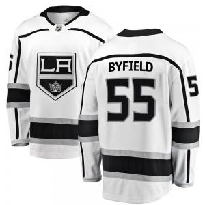 Quinton Byfield Los Angeles Kings Men's Fanatics Branded White Breakaway Away Jersey