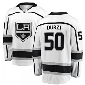 Sean Durzi Los Angeles Kings Men's Fanatics Branded White Breakaway Away Jersey