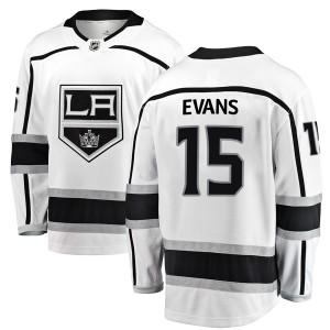 Daryl Evans Los Angeles Kings Men's Fanatics Branded White Breakaway Away Jersey