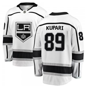 Rasmus Kupari Los Angeles Kings Men's Fanatics Branded White Breakaway Away Jersey