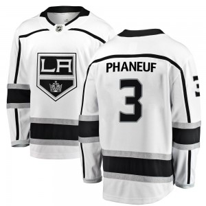 Dion Phaneuf Los Angeles Kings Men's Fanatics Branded White Breakaway Away Jersey