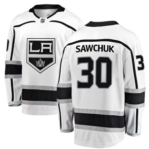 Terry Sawchuk Los Angeles Kings Men's Fanatics Branded White Breakaway Away Jersey