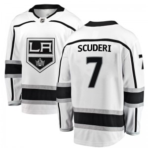 Rob Scuderi Los Angeles Kings Men's Fanatics Branded White Breakaway Away Jersey