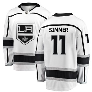 Charlie Simmer Los Angeles Kings Men's Fanatics Branded White Breakaway Away Jersey