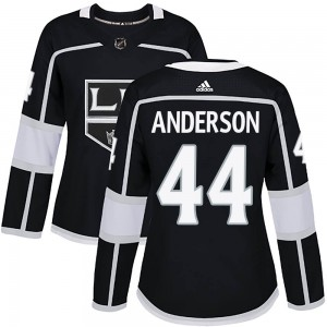 Mikey Anderson Los Angeles Kings Women's Adidas Authentic Black ized Home Jersey