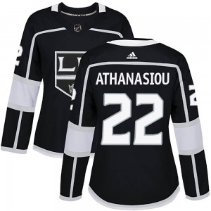 Andreas Athanasiou Los Angeles Kings Women's Adidas Authentic Black Home Jersey