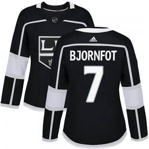 Tobias Bjornfot Los Angeles Kings Women's Adidas Authentic Black Home Jersey