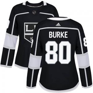 Brayden Burke Los Angeles Kings Women's Adidas Authentic Black Home Jersey