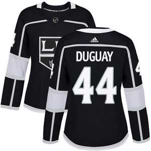 Ron Duguay Los Angeles Kings Women's Adidas Authentic Black Home Jersey