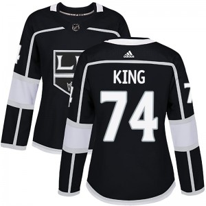 Dwight King Los Angeles Kings Women's Adidas Authentic Black Home Jersey