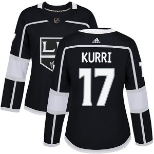 Jari Kurri Los Angeles Kings Women's Adidas Authentic Black Home Jersey