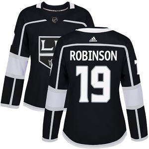 Larry Robinson Los Angeles Kings Women's Adidas Authentic Black Home Jersey