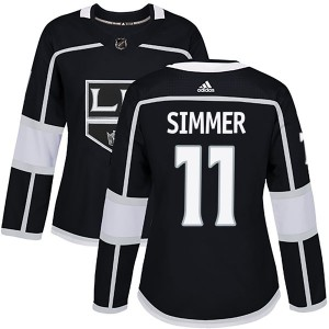 Charlie Simmer Los Angeles Kings Women's Adidas Authentic Black Home Jersey