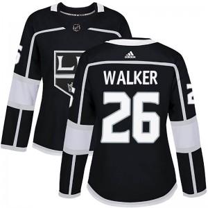 Sean Walker Los Angeles Kings Women's Adidas Authentic Black Home Jersey