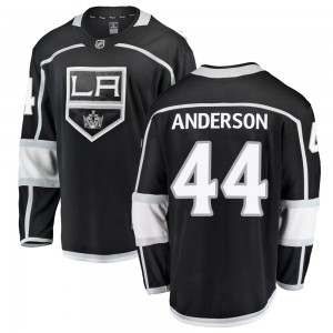 Mikey Anderson Los Angeles Kings Youth Fanatics Branded Black ized Breakaway Home Jersey
