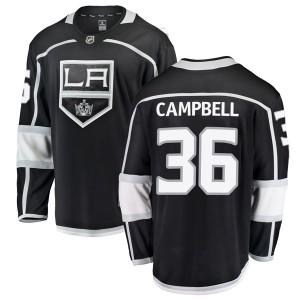 Jack Campbell Los Angeles Kings Youth Fanatics Branded Black Breakaway Home Jersey