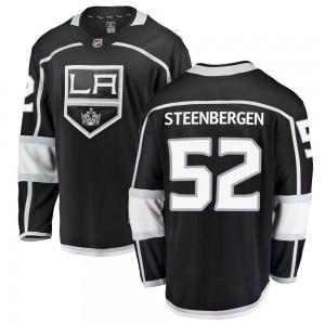 Tyler Steenbergen Los Angeles Kings Youth Fanatics Branded Black Breakaway Home Jersey