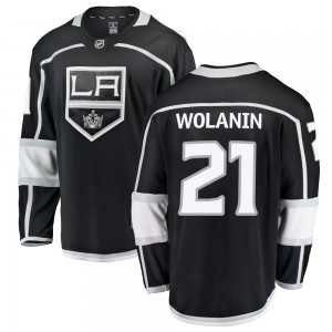 Christian Wolanin Los Angeles Kings Youth Fanatics Branded Black Breakaway Home Jersey