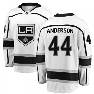 Mikey Anderson Los Angeles Kings Youth Fanatics Branded White ized Breakaway Away Jersey