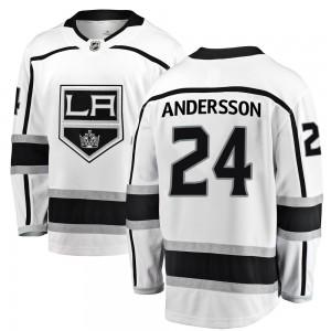 Lias Andersson Los Angeles Kings Youth Fanatics Branded White Breakaway Away Jersey