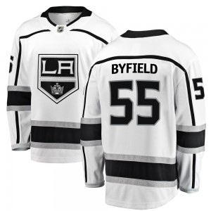 Quinton Byfield Los Angeles Kings Youth Fanatics Branded White Breakaway Away Jersey