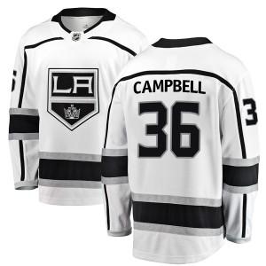 Jack Campbell Los Angeles Kings Youth Fanatics Branded White Breakaway Away Jersey