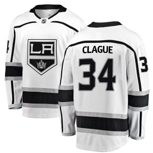 Kale Clague Los Angeles Kings Youth Fanatics Branded White Breakaway Away Jersey