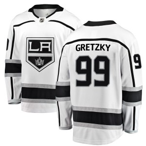 Wayne Gretzky Los Angeles Kings Youth Fanatics Branded White Breakaway Away Jersey