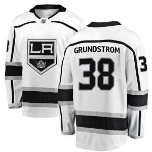 Carl Grundstrom Los Angeles Kings Youth Fanatics Branded White Breakaway Away Jersey