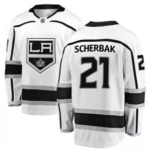 Nikita Scherbak Los Angeles Kings Youth Fanatics Branded White Breakaway Away Jersey
