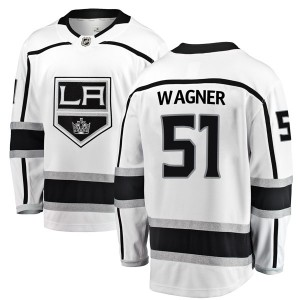 Austin Wagner Los Angeles Kings Youth Fanatics Branded White Breakaway Away Jersey