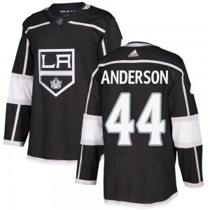 Mikey Anderson Los Angeles Kings Youth Adidas Authentic Black ized Home Jersey