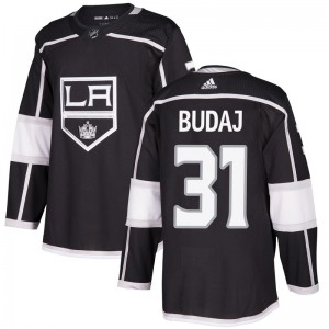Peter Budaj Los Angeles Kings Youth Adidas Authentic Black Home Jersey
