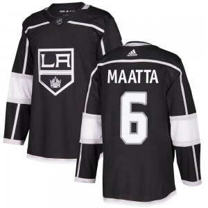 Olli Maatta Los Angeles Kings Youth Adidas Authentic Black Home Jersey