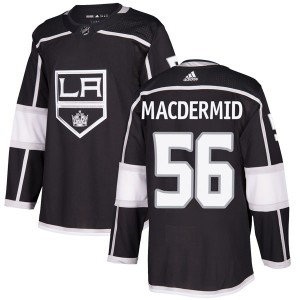 Kurtis MacDermid Los Angeles Kings Youth Adidas Authentic Black Home Jersey