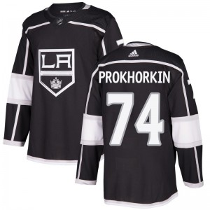 Nikolai Prokhorkin Los Angeles Kings Youth Adidas Authentic Black Home Jersey
