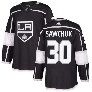 Terry Sawchuk Los Angeles Kings Youth Adidas Authentic Black Home Jersey