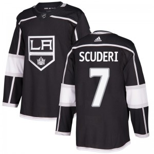 Rob Scuderi Los Angeles Kings Youth Adidas Authentic Black Home Jersey
