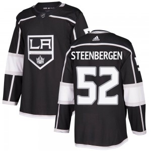 Tyler Steenbergen Los Angeles Kings Youth Adidas Authentic Black Home Jersey
