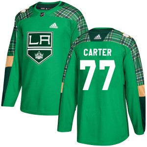 Jeff Carter Los Angeles Kings Youth Adidas Authentic Green St. Patrick's Day Practice Jersey
