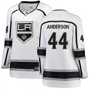 Mikey Anderson Los Angeles Kings Women's Fanatics Branded White ized Breakaway Away Jersey