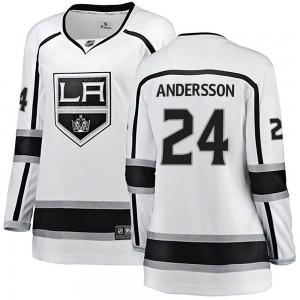 Lias Andersson Los Angeles Kings Women's Fanatics Branded White Breakaway Away Jersey