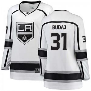 Peter Budaj Los Angeles Kings Women's Fanatics Branded White Breakaway Away Jersey